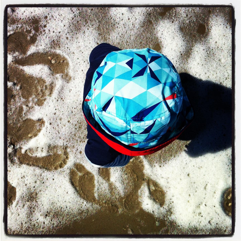 Gijs aan het strand